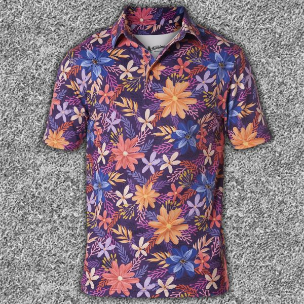 Floral Performance Polo