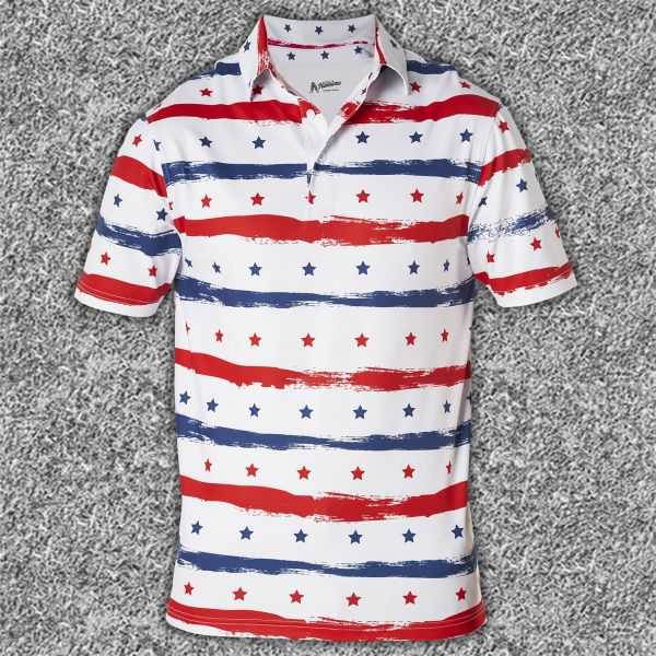 Stars and Stripes Performance Polo